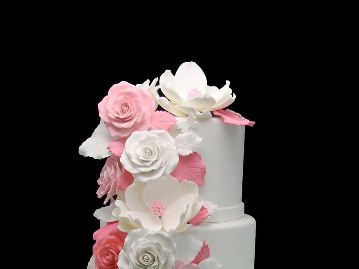 Tmx 1466010145387 Pink Cascading Roses  Magnolia Wedding Cake Long Island City, New York wedding cake
