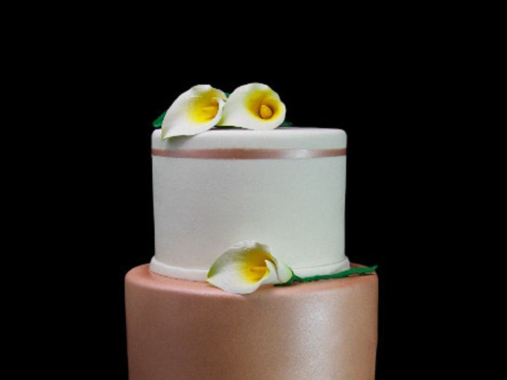 Tmx 1478200128564 Rose Gold Tier With Orchids Wedding Long Island City, New York wedding cake