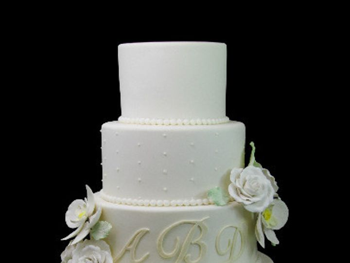Tmx 1478200215294 Elegant Flowers Swiss Dot Cake Long Island City, New York wedding cake