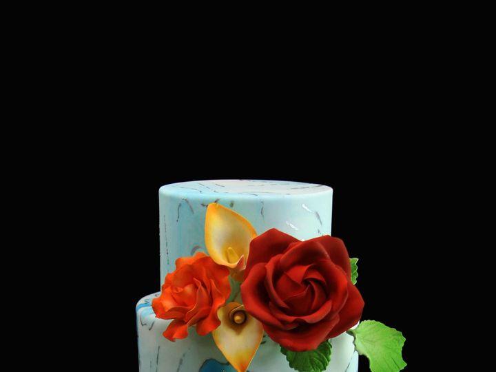 Tmx 1512081122493 Blue Marbled Cake Long Island City, New York wedding cake