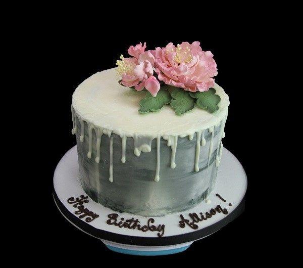 Tmx 1513198576281 Peonies  Metallic Silver Long Island City, New York wedding cake