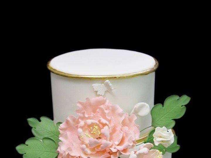Tmx 1513198845291 Gold Edged Cake With Peony Long Island City, New York wedding cake