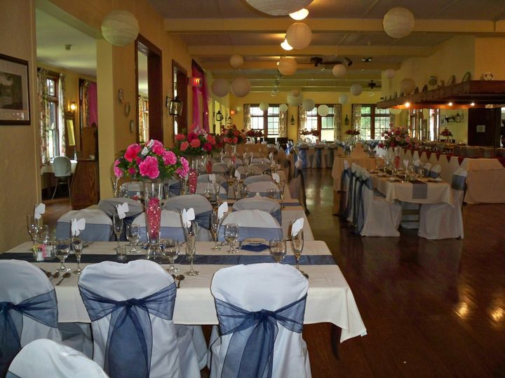 dining room blue wedding