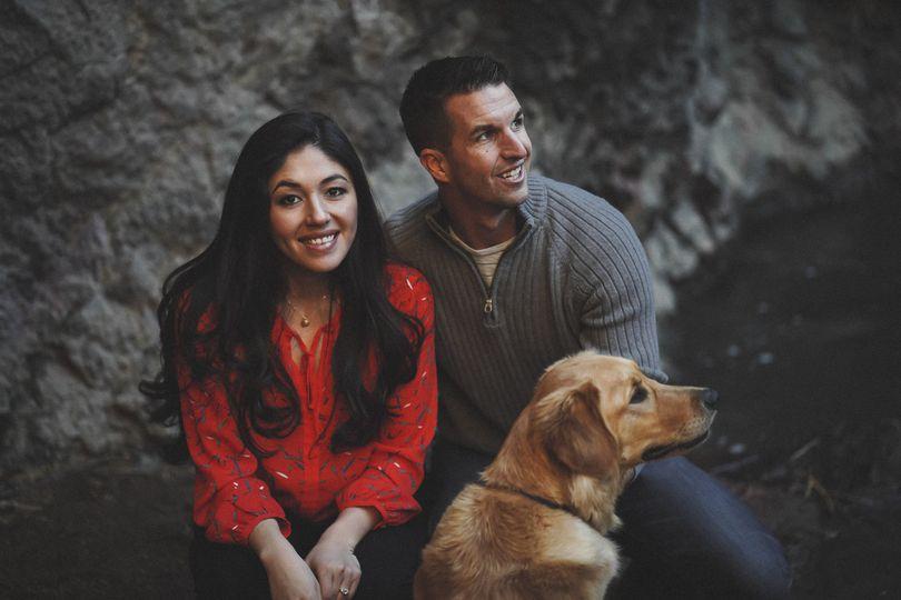 Boise couple with their dog