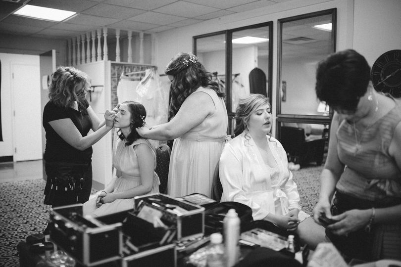 Multiple makeup artists
