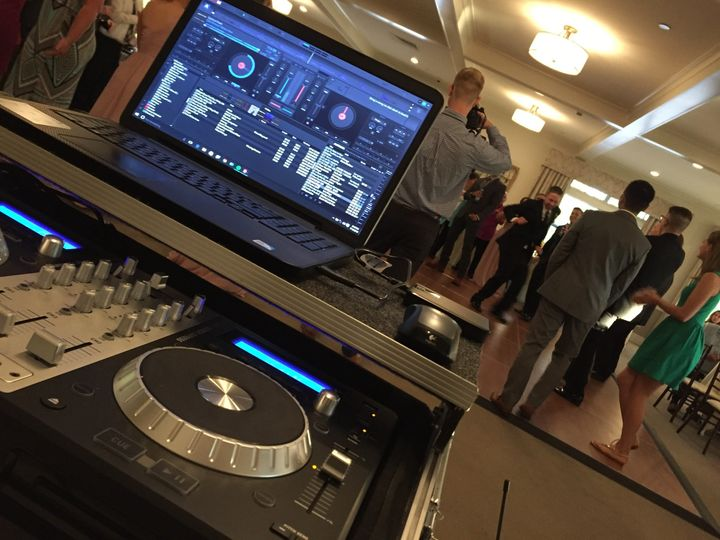 The DJ station