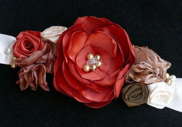 Autumn wedding sash