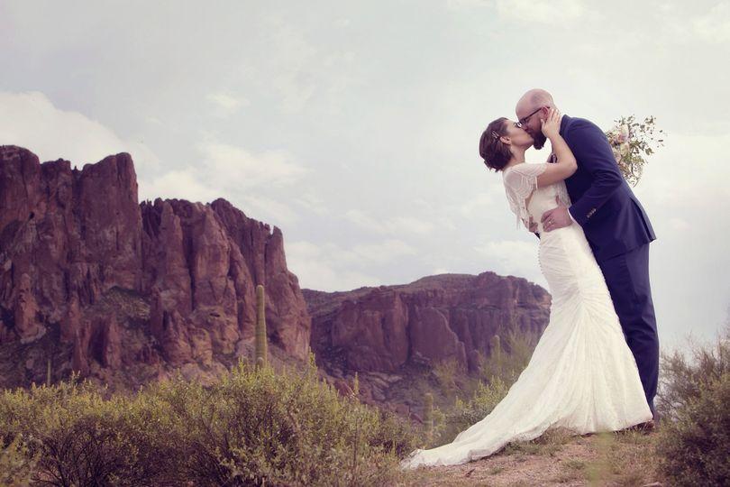 superstition mountain wedding portraits