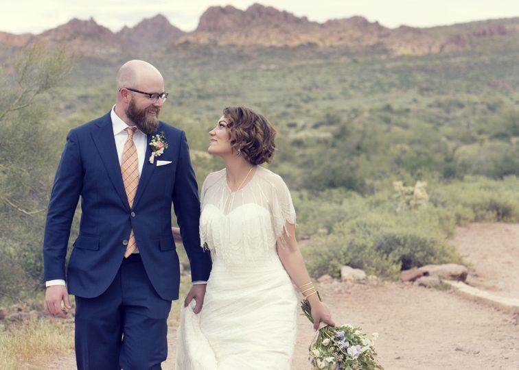 superstition mountain bride and groom