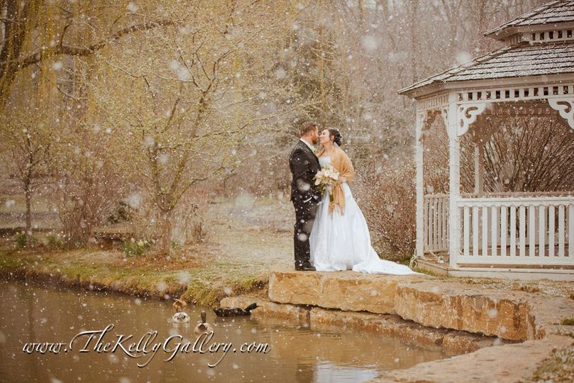 Snowy Kiss in The Gardens