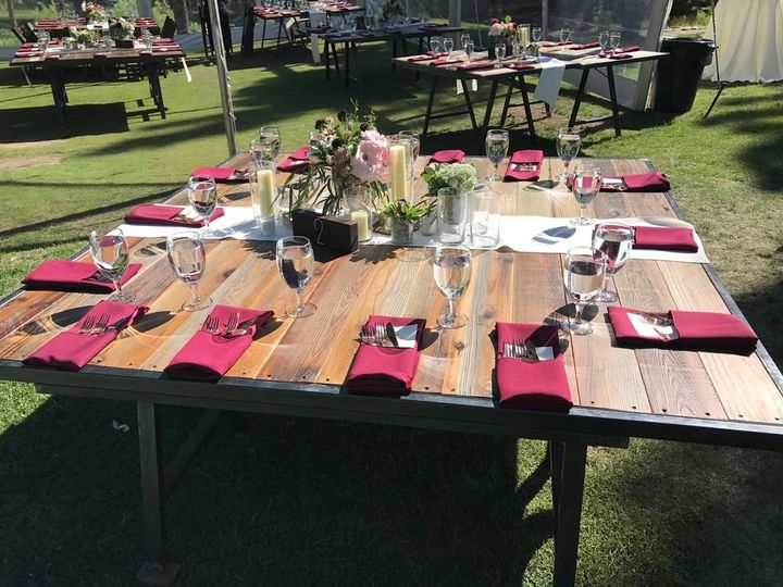 Square top guest table