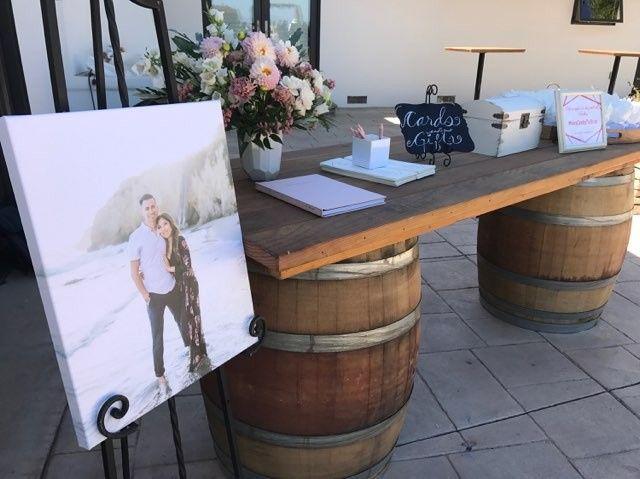 Big wine barrel table