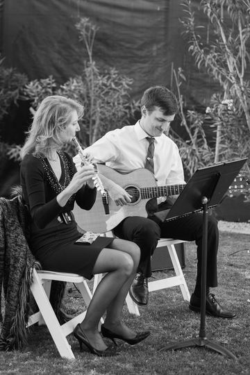Flute and guitar for outdoor wedding in Phoenix