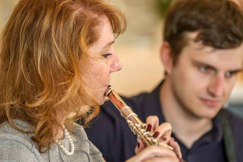 Laura - flute, Alex - guitar