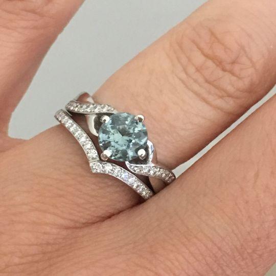 Sapphire and Diamond Ring Set