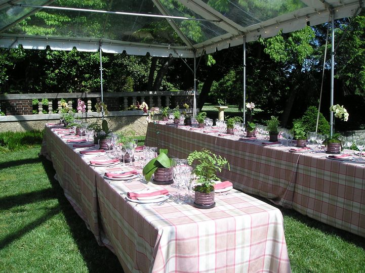 long tables upper garden
