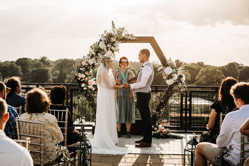 Or Small rooftop ceremonies