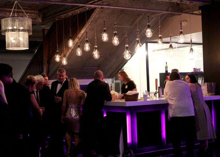 The banquet hall bar