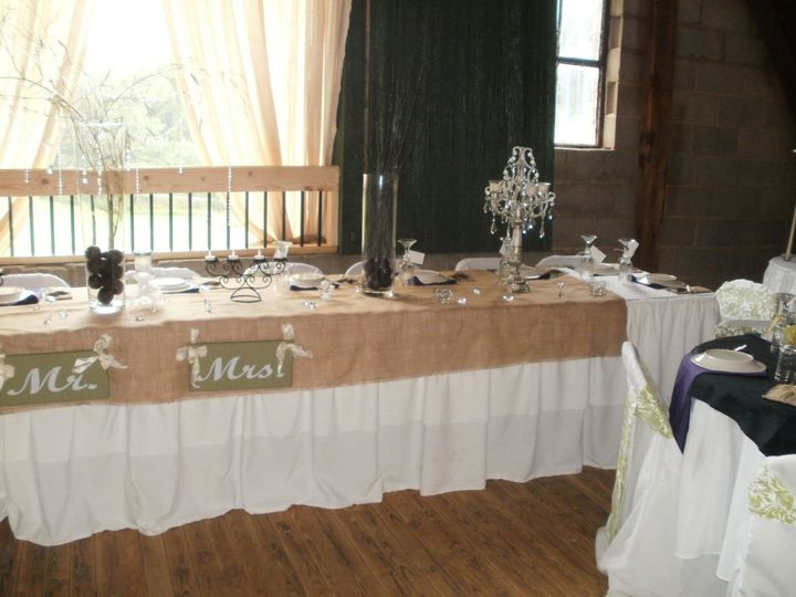 The head table Kinsey and Scott Harris Wedding