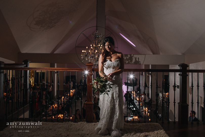 Bride in the hall