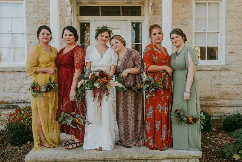 Floral Hoops for bridesmaids