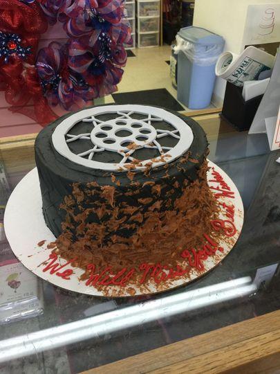Single-tier cake