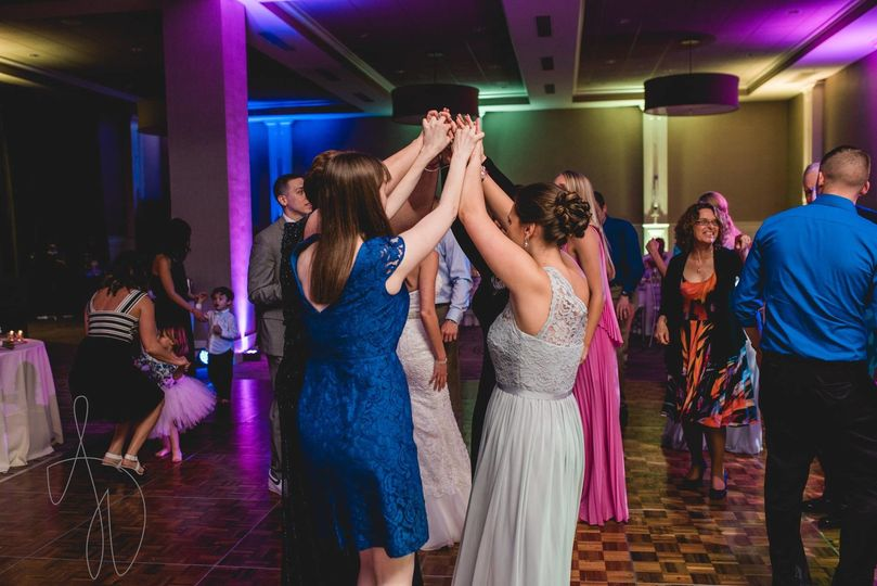 High energy wedding at Portsmouth Harbor Event Center | Photo Credit: Alexandra Wiciel Photography