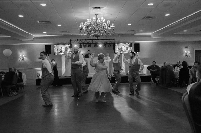 Choreographed mother son dance at the Regatta Banquet Center | Photo Credit Hannah Rose Photography