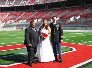 """Wedding at """"The Shoe"""" Ohio State University"""
