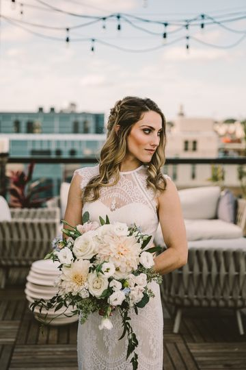 This lace bridal gown was perfect for this intimate wedding in Dupont Circle