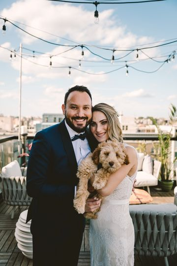 We love when our wedding couples bring their four legged friends to celebrate their wedding day