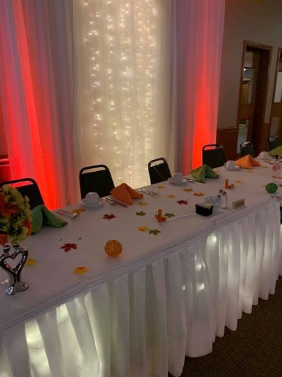 Headtable with lighting