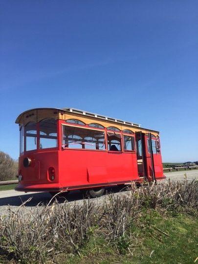 Red tram