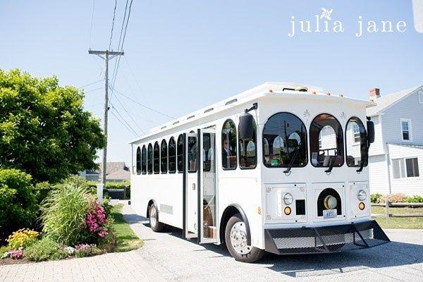 White tram