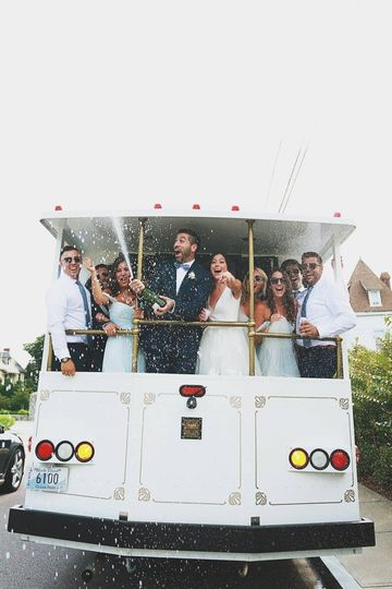 Wedding party in the tram