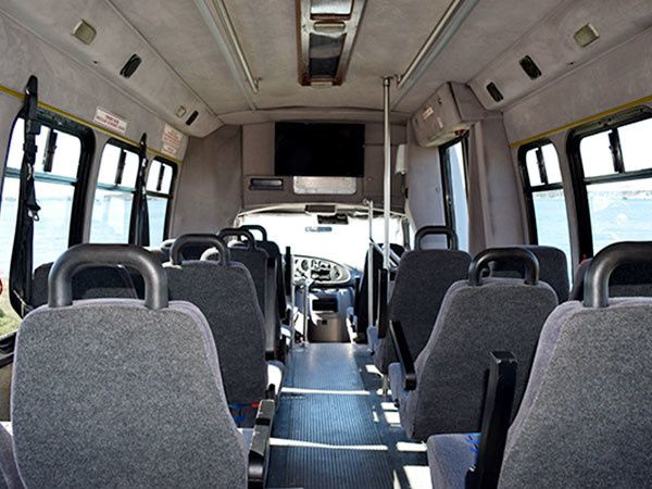 Interior of the bus