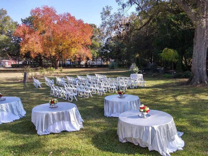 Set up for October Wedding