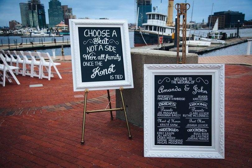 Lecker wedding faux chalk sign