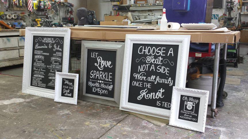 Lecker faux chalk signs