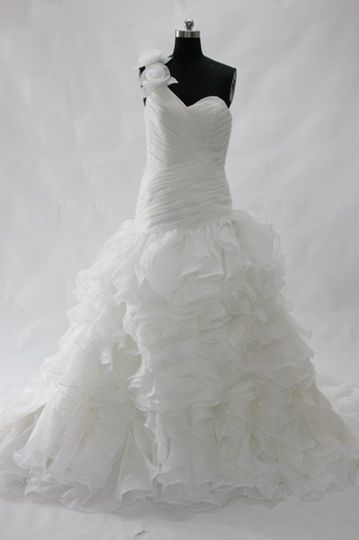 OuterInner Floral One Shoulder Ruffle Skirt Wedding Dress Style Code: 08555 $250