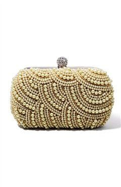 Pearls Clutch with Beaded Closure details Style Code: 10989 US$34.00