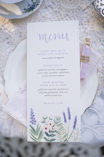 Rustic Lavender Tea Party Invitation Suite