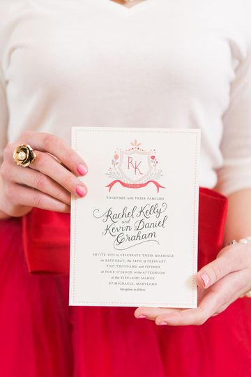 Romantic Valentine's Day Wedding Invitation Suite
