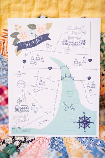 Wedding Invitations, Map Design