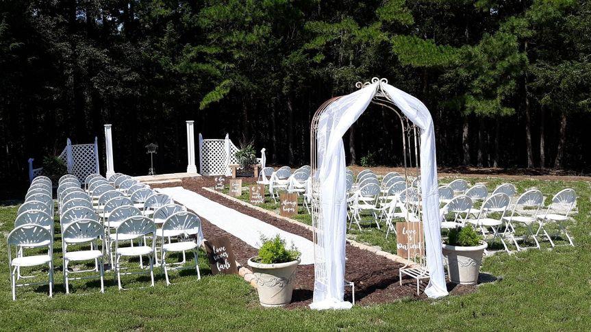Outside wedding area