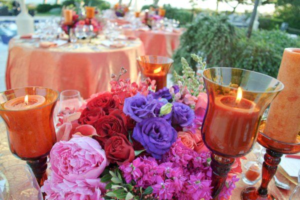 Florals and centerpieces designed by Tricia Fountaine Floral Design, Santa Barbara