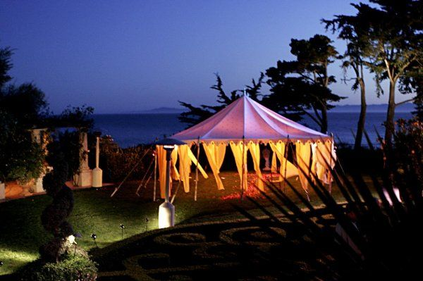 Beautiful Moroccan tent provided by Raj Tents, played host to the ceremony and dessert reception.