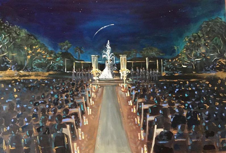 Lafayette Wedding Painting