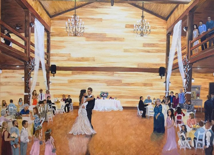 Mississippi Wedding Painting