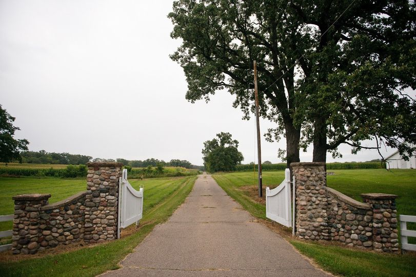 Gated entrance to lakewood farms estate